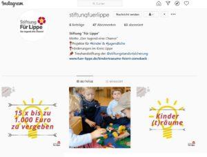 """Instagram Stiftung""""Für Lippe"""""""